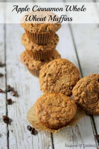 Apple Cinnamon Whole Wheat Muffins