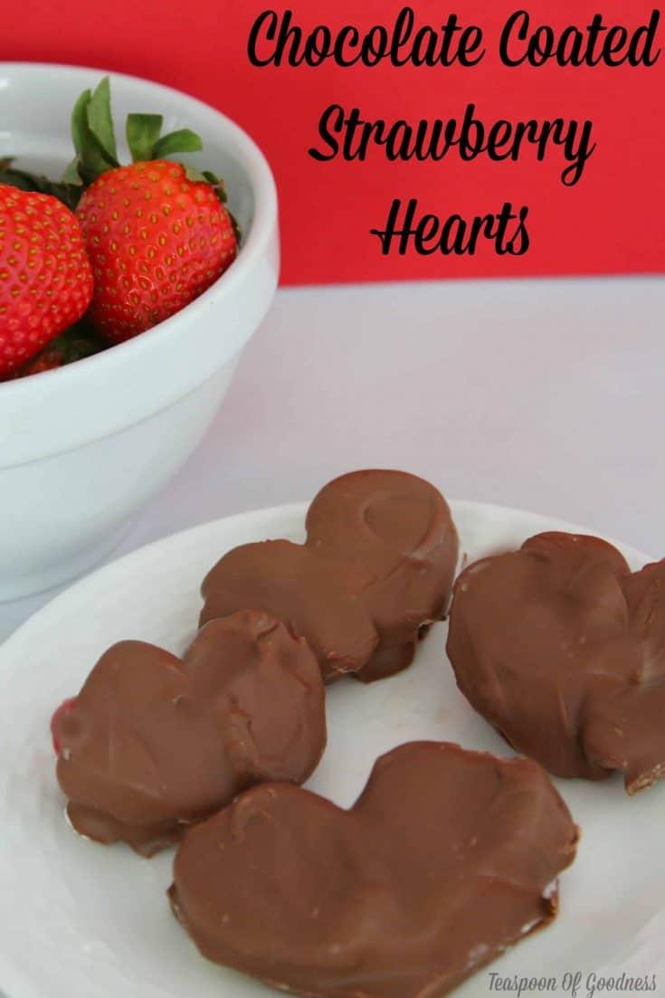 Heart Shaped Chocolate Covered Strawberries Recipe