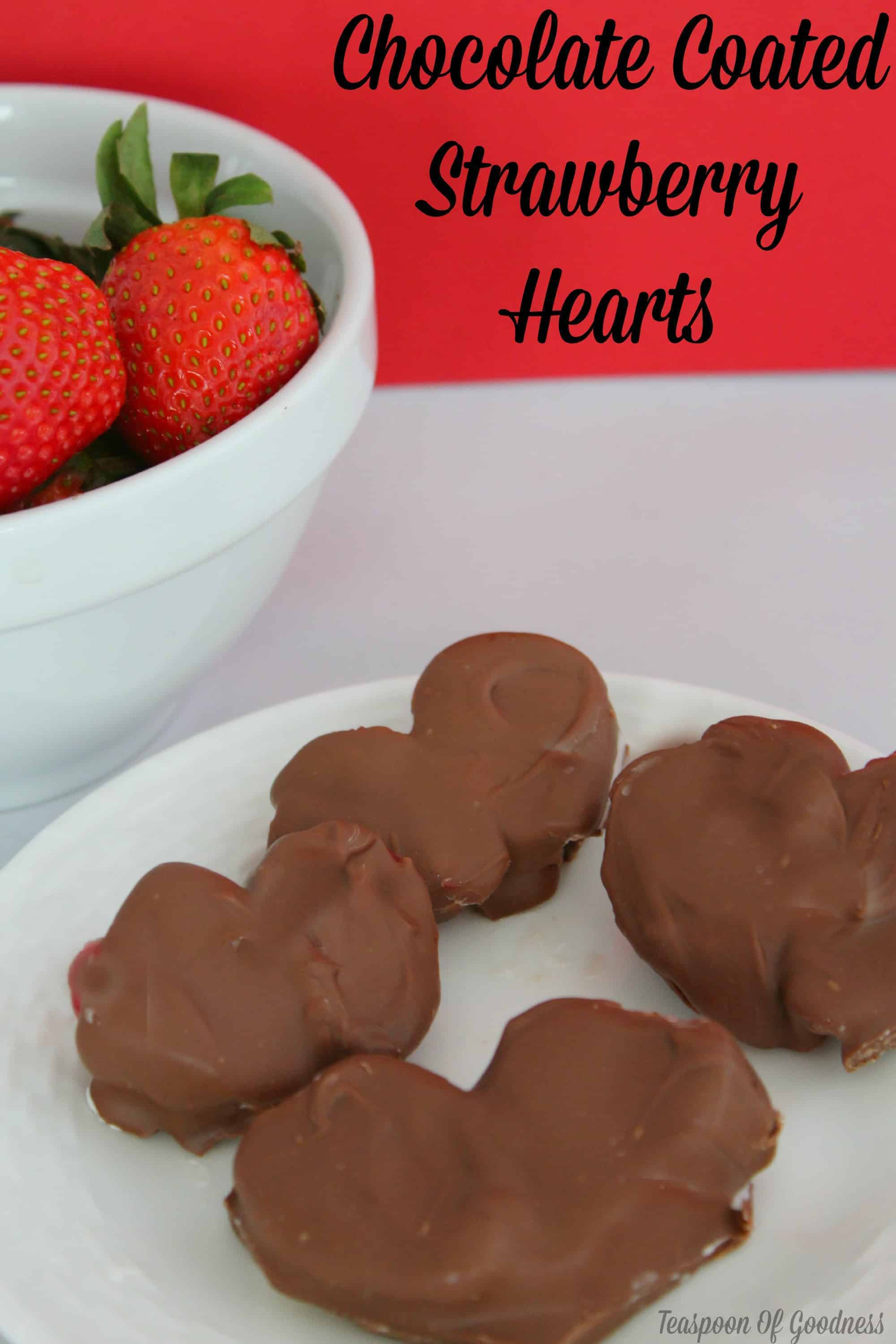 Chocolate Coated Strawberry Hearts