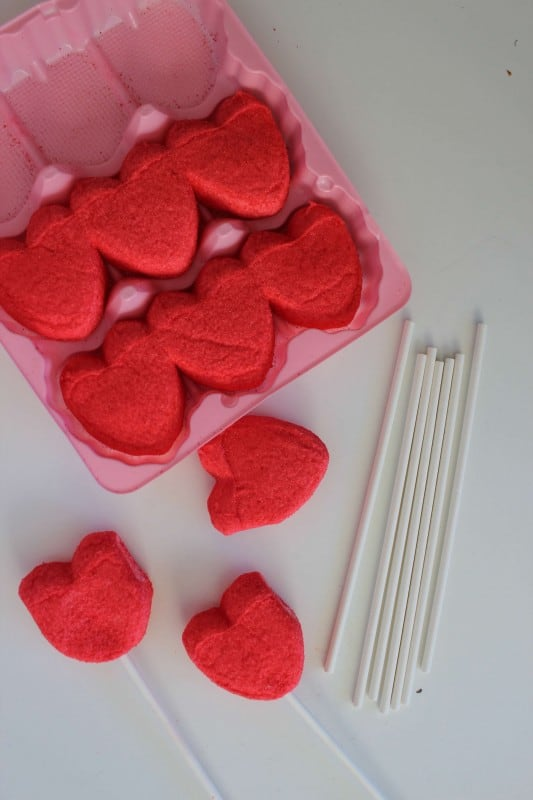 Valentines Day Treats White Chocolate Dipped Peep Hearts