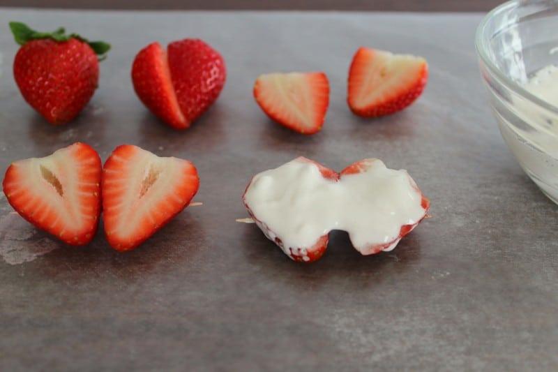 Chocolate Coated Strawberry Hearts