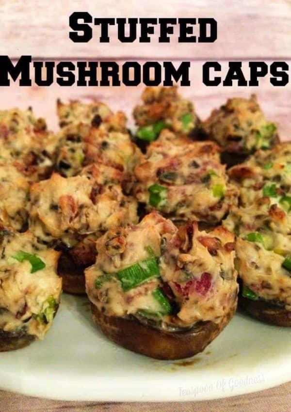 Crowd Pleasing Stuffed Mushroom Caps Recipe