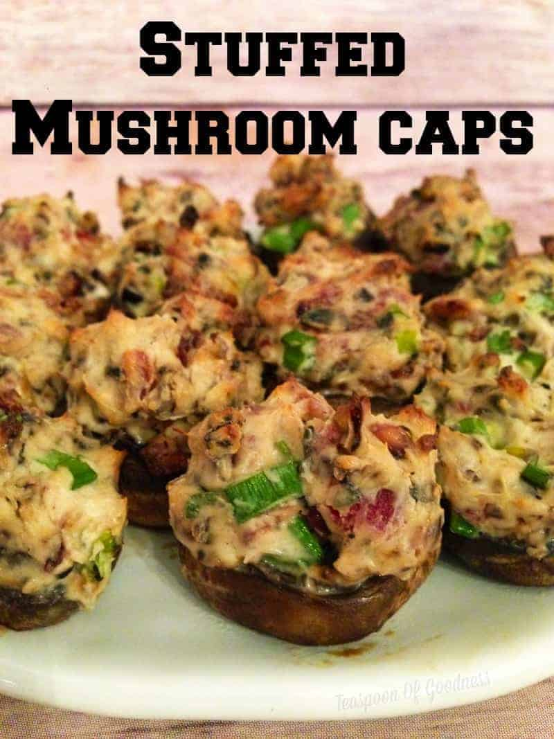 Crowd Pleasing Stuffed Mushroom Caps Recipe