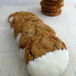 White Chocolate Dipped Ginger Snaps