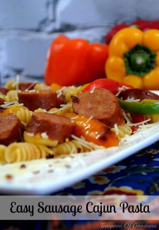 Easy Cajun Sausage Pasta
