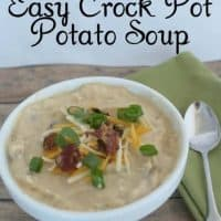 Easy Crock Pot Potato Soup