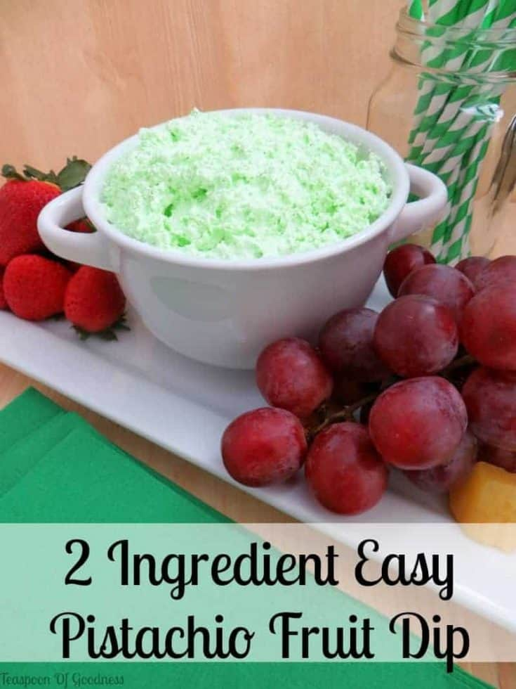 Pistachio Flavored Easy Fruit Dip