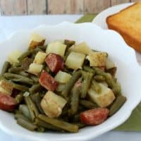 Slow Cooker Green Beans, Sausage & Potato Dinner