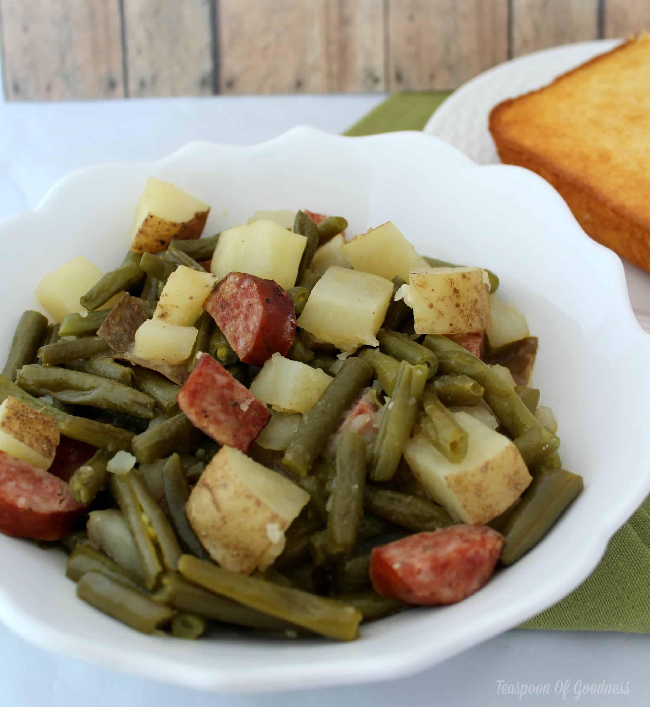 Slow Cooker Recipe Green Beans Sausage Amp Potato Dinner