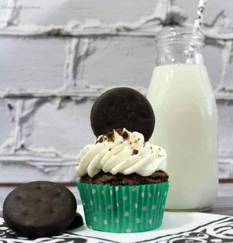 Thin Mint Chocolate Cupcake Recipe 2