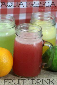 Aqua Fresca Fruit Drink 3 Ways