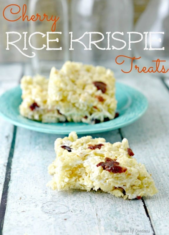 Cherry Rice Krispie Treats