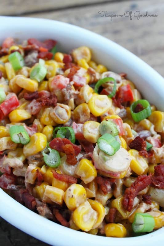 Toasted Corn Salad with Bacon
