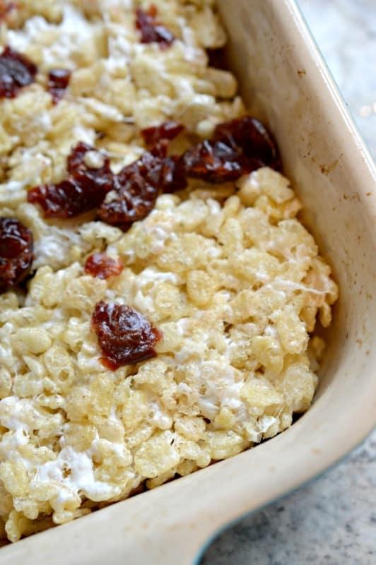 Cherry Rice Krispie Treats
