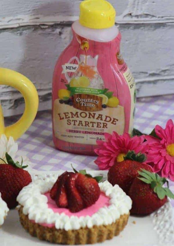4 Ingredient Mini No-Bake Berry Cheesecake #NeverEndingSummer