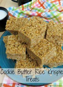 Cookie Butter Rice Krispie Treats