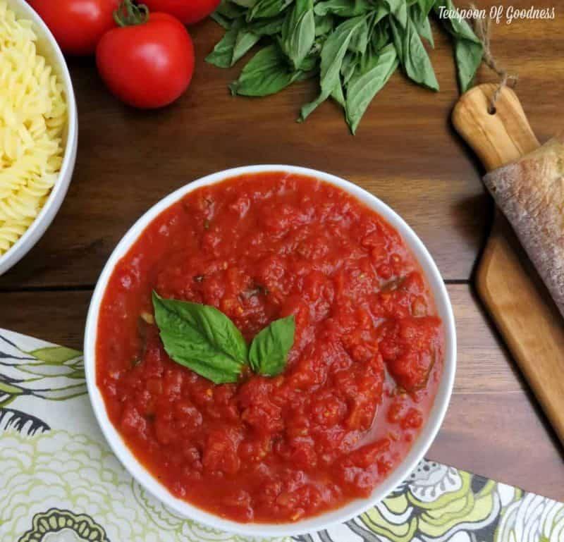 Homemade Marinara Sauce - Tomato Basil