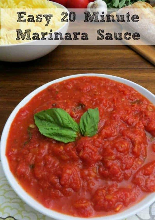 Homemade Marinara Sauce – Tomato Basil