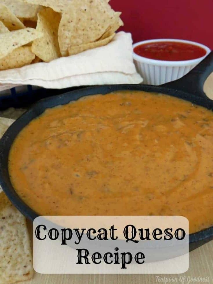 Copycat Chilis Queso Recipe