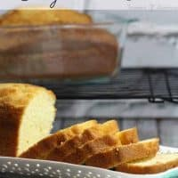 Easy Homemade Pound Cake