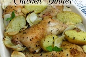 One Pan Baked Chicken Dinner