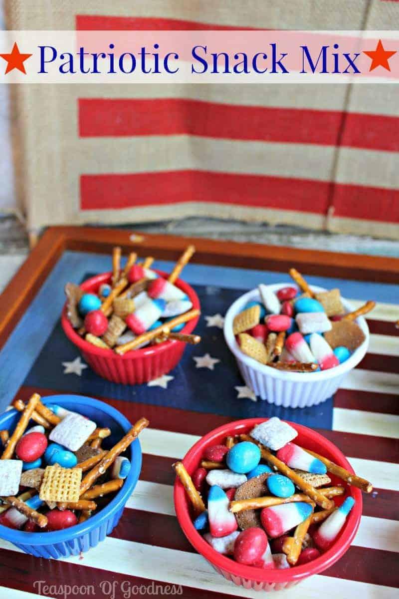 Easy Peasy Patriotic Snack Mix