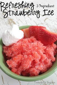 Refreshing Strawberry Ice