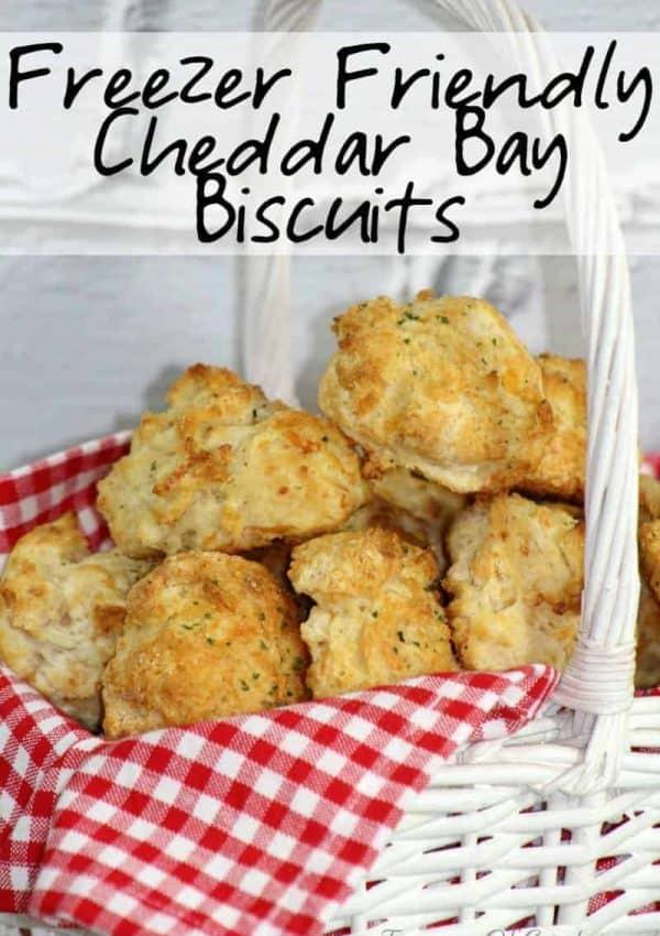 Freezer Friendly Cheddar Bay Biscuits