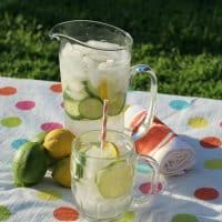 Detox Water with Cucumber, Lemons & Limes