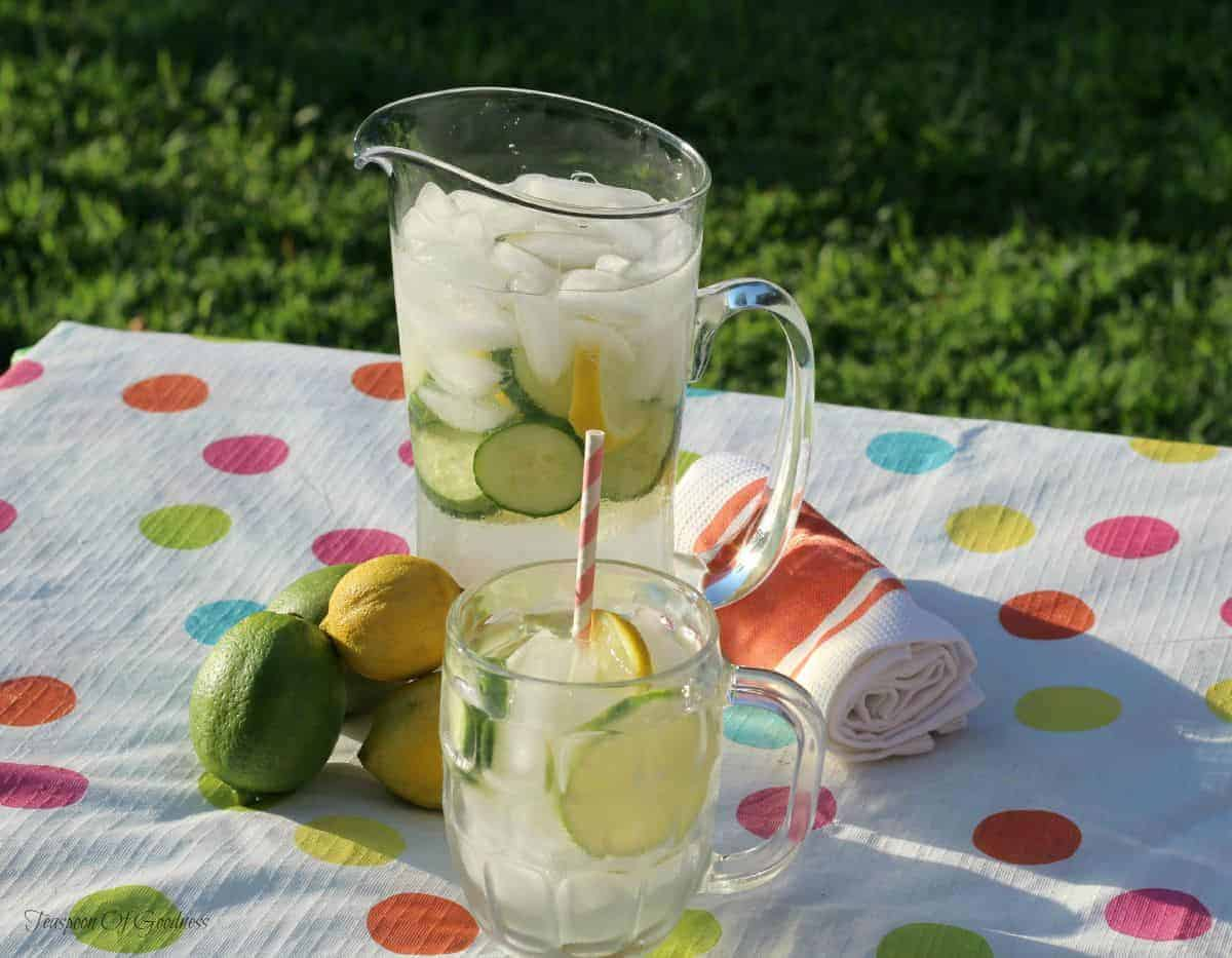 Infused waters are one of the easiest ways to make detox water. This easy recipe tastes great, works wonders to flush your body of toxins and adds several health benefits.