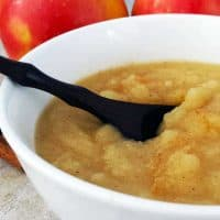 Homemade cinnamon applesauce is easy and cheap to make plus you get to have complete control over your ingredients. It's a fun fall project with the kids. - Teaspoon Of Goodness