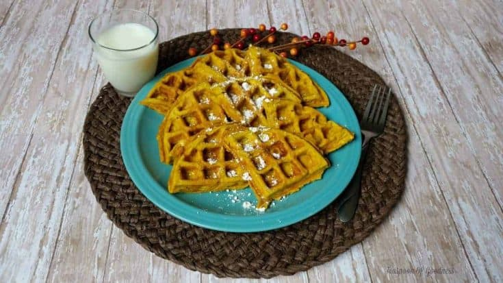 Pumpkin Waffles With Oats