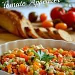 Feta, Cucumber & Tomato Appetizer
