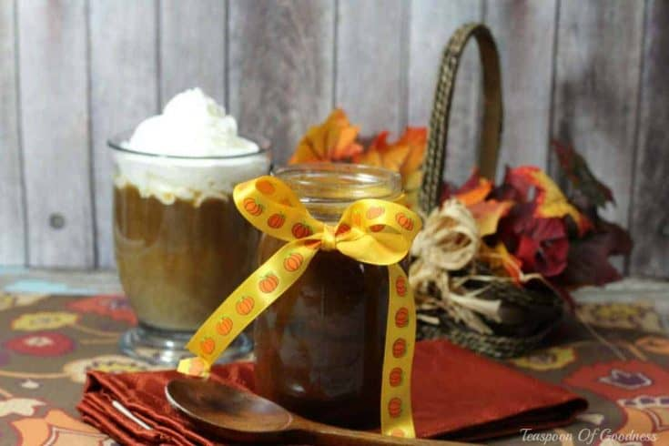 Pumpkin Spice Syrup - Teaspoon Of Goodness