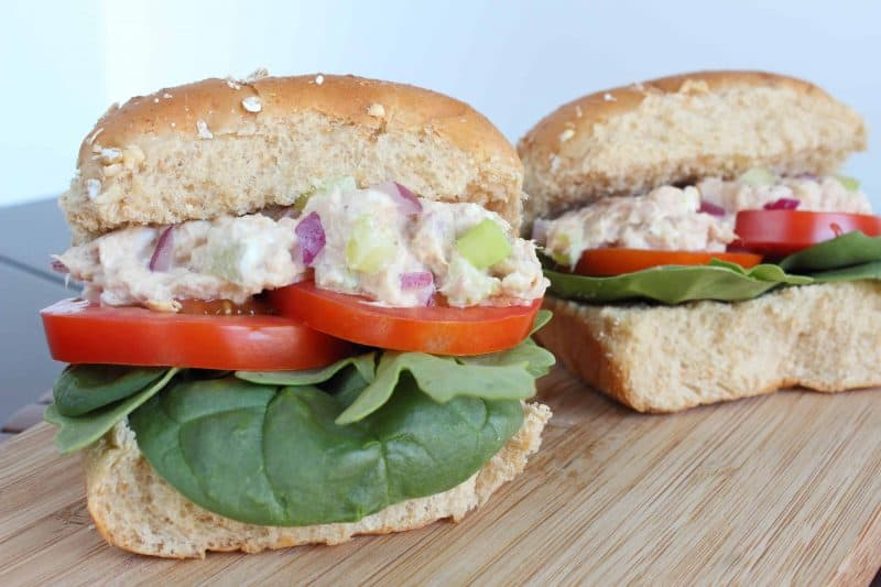 Snag this easy as can be tuna slider recipe that is packed with fresh veggies for lunch or a light dinner.   - Teaspoon Of Goodness
