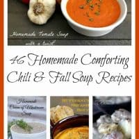 Looking for hearty chili and fall soup recipes? Here are 46 Homemade Comforting Chili & Fall Soup Recipes to enjoy as you watch the leaves fall! - Teaspoon Of Goodness