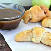 Apple Cinnamon Crescent Rolls With Caramel Sauce