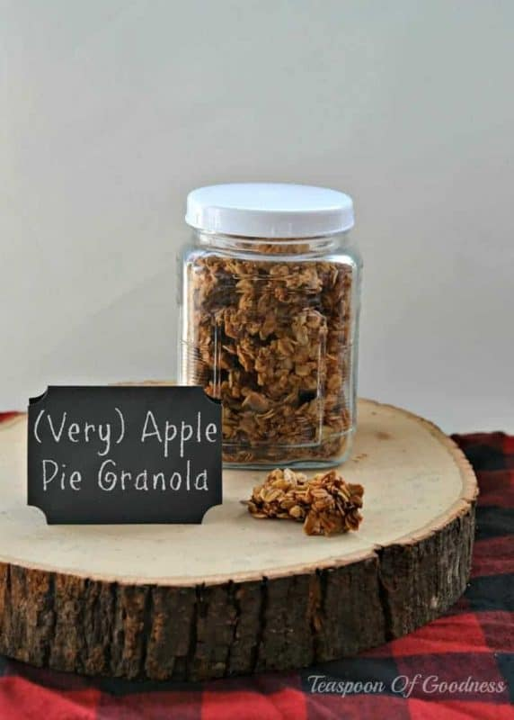 Apple Cinnamon Granola Recipe - Teaspoon Of Goodness