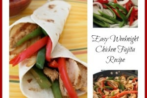 Easy Weeknight Chicken Fajita Recipe - Teaspoon Of Goodness