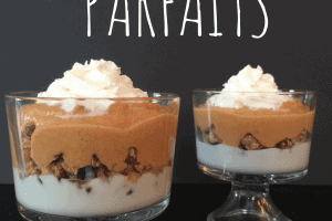 The addition of pumpkin and pumpkin pie spice to a classic and easy breakfast pumpkin parfait recipe is a great choice for everyone in your family. - Teaspoon Of Goodness