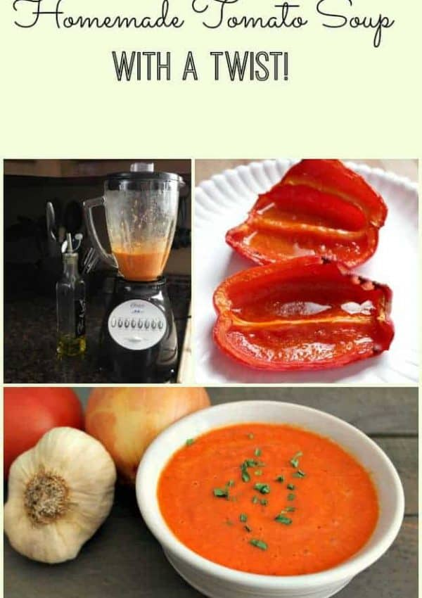 Homemade Tomato Soup Recipe With Roasted Peppers