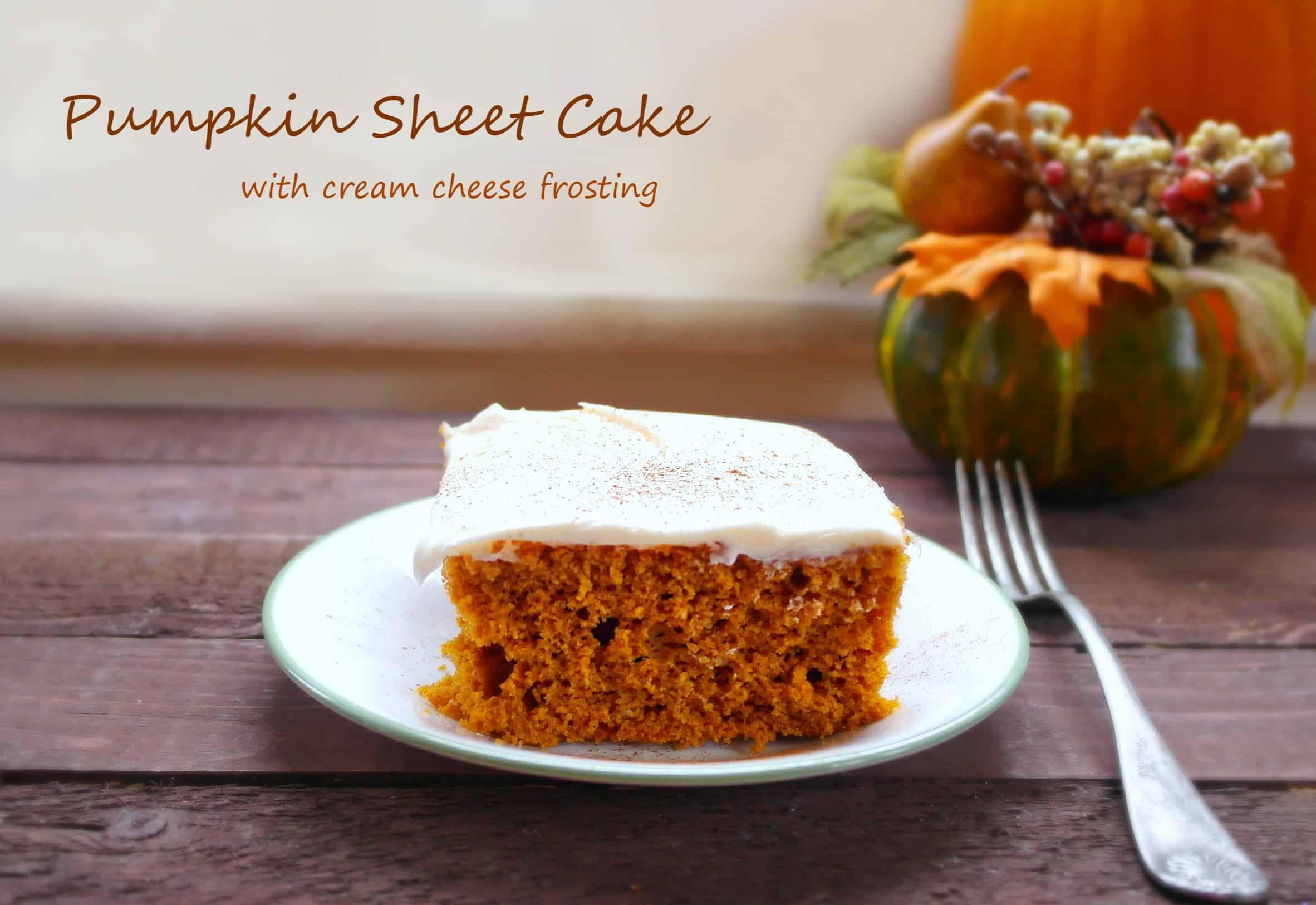 Fresh Pumpkin Cake Recipe