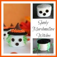 Spooky Marshmallow Witches