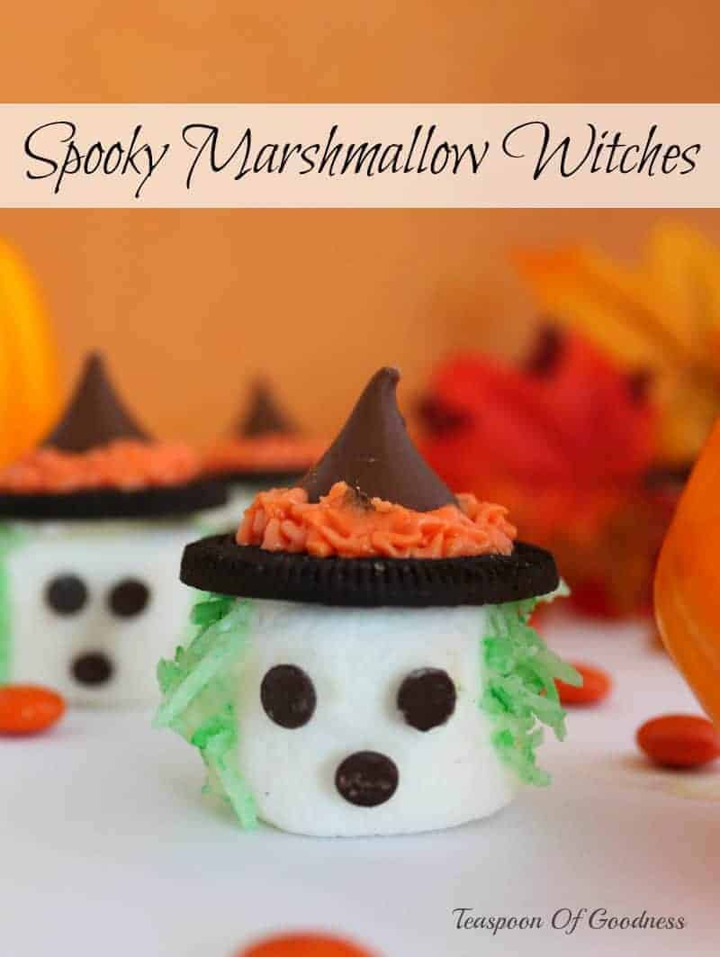 Spooky Marshmallow Witches - Teaspoon Of Goodness