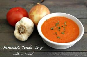 There is nothing quite as delicious as a Homemade Tomato Soup Recipe on a cold fall or winter day. - Teaspoon Of Goodness