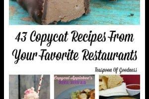 It's not impossible to make many of your favorite restaurant recipes at home. Here are 43 Copycat Recipes From Your Favorite Restaurants to get you started!