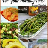 48 vegetable side dishes for your holiday feast including corn, squash, carrots, green beans, sweet potatoes and more! - Teaspoon Of Goodness