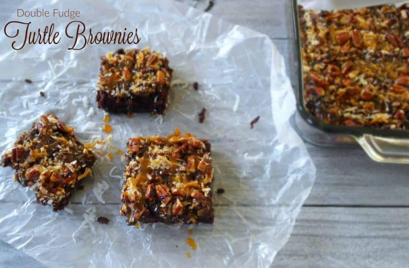 The combination of chocolate, pecans and caramel make this decadent Turtle Fudge Brownie Recipe an over the top mix of goodness everyone will enjoy. - Teaspoon Of Goodness