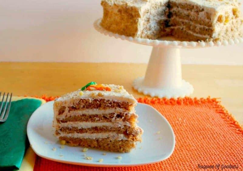 Moist Carrot Cake Recipe - Teaspoon Of Goodness