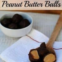 Chocolate Peanut Butter Balls are a favorite holiday treat in our house, and since this recipe is no bake, it is even better in my opinion. - Teaspoon Of Goodness
